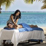 picture of beach massage of a wedding or honeymoon couple